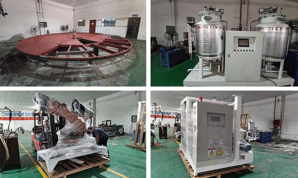 越南脚垫聚氨酯发泡机自动化流水线